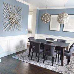 Benjamin Moore Nimbus Grey Dining Room – Home Decor&Remodel Dining Room Decor Elegant, Dining Room Paint Colors, Dining Room Design, Dining Decor, Design Room, Kitchen Design, Interior Design, Benjamin Moore, Modern