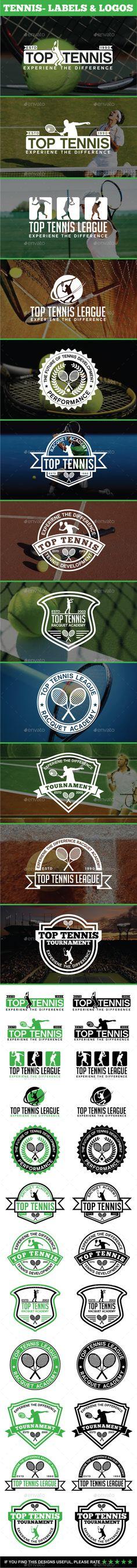 12 Tennis - Labels & Logos - Badges & Stickers Web Elements