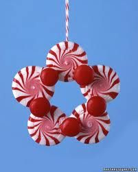 Making a peppermints and candy ornament.