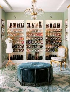 See more images from 35 spare bedrooms that turned into dream closets on http://domino.com