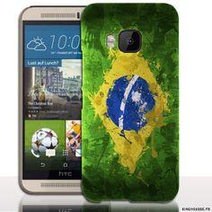 Coque pour HTC One M9 Bresil - Housse / Coque drapeau telephone mobile HTC. #coque #htc #M9 #bresil #case #phone