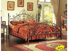 Victorian wrought iron home furniture bed