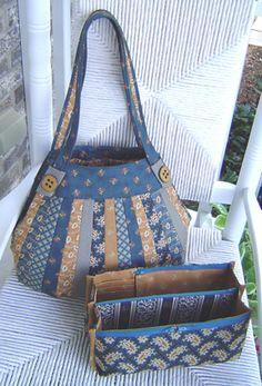 The Lollapalooza Pattern by StudioKat Designs Handmade Purses, Handmade Handbags, Patchwork Bags, Quilted Bag, Homemade Bags, Handbag Patterns, Fabric Bags, Fabric Basket, Craft Bags