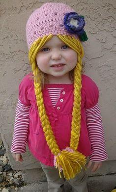 Tricô + Crochê: Chapéu ou touca Rapunzel de crochê - Vídeo