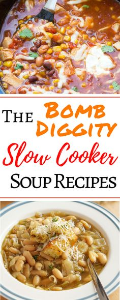 These 8 slow cooker soup recipes are all so healthy and delicious! I'm so glad I found this roundup with recipes for vegetarian tomato detox chicken noodle beef potato bean and even easy Mexican soup! These awesome fall Crockpot recipes are THE BEST Crock Pot Recipes, Fall Crockpot Recipes, Crock Pot Soup, Slow Cooker Recipes, Soup Recipes, Vegetarian Recipes, Cooking Recipes, Healthy Recipes, Crockpot Meals