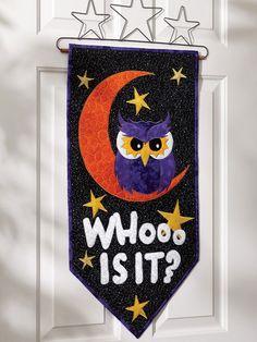 Whoo is it? Door Banner Digital Pattern