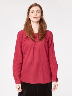 Ruby Pink Katherine Organic Cotton Blouse