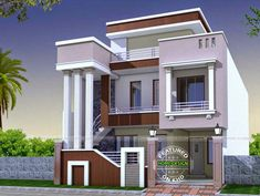 2 storey house for sale with front design of house construction in india for ultra modern narrow homes - Best Home Interior Design Bungalow Haus Design, Modern Bungalow House, Duplex House Design, Bungalow House Plans, House Front Design, Modern House Plans, Modern Houses, Indian Home Design, Kerala House Design