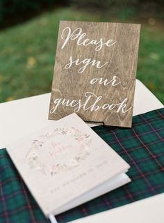 Create matching signs for a cohesive wedding
