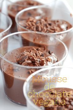 Receita Mousse de chocolate vegana