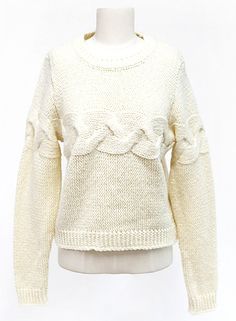 Creamy Knit Sweater | Fall & Winter | Dolly & Molly | www.dollymolly.com | #cream #ivory #designer #daily #warm #winter #outfit #lookbook