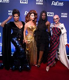 Peppermint, Trinity Taylor, Shea Coulee and Sasha Velour attend the 'RuPaul's Drag Race' Season 9 Finale Viewing Party at Stage 48 on June 23, 2017 in New York City.