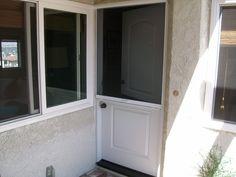 Top down hide a screen on a Dutch door. Security Door, Back Doors, Exterior Paint, Dutch Doors, Mudroom, Cabin, Windows, Storm Doors, Screen Doors