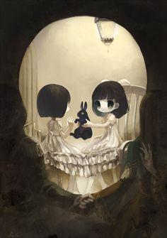 grafika skull, art, and anime Anime Body, Anime Pokemon, Anime Plus, Art Noir, Arte Obscura, Estilo Anime, Arte Horror, Art Et Illustration, Illusion Art