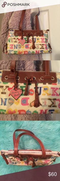 💯Authentic Dooney & Bourke Scribble bag Authentic Dooney & Bourke Scribble bag!  Adorable!  Too small for me.  #M6050771 Dooney & Bourke Bags Shoulder Bags