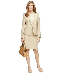 Brooks Brothers - Wool Pencil Skirt - Camel