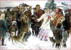 Зима на Руси в картинах художников   (гей блюсик 11447)