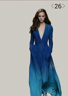 Elie Saab dress blue spring collection