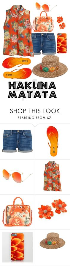 """""""Hakuna Matata"""" by astrild15 ❤ liked on Polyvore featuring Frame, Tkees, Balenciaga, Kenneth Jay Lane and Eric Javits"""