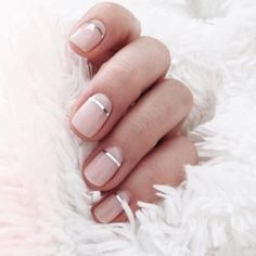 Nude nail ideas for nice & simple nails.