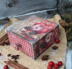 """Купить """"Глинтвейн"""" короб - ярко-красный, бордовый, глинтвейн, корица, яблоко, анис, бадьян, пряности"""