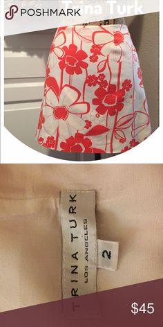 Trina Turk lined classic resort skirt fun & flirty Trina Turk lined classic resort skirt fun & flirty Trina Turk Skirts