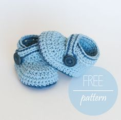 FREE Crochet Pattern - Blue Booties