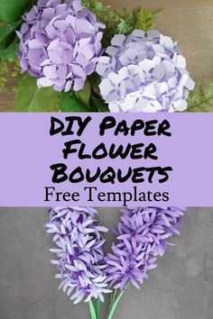 Cricut paper flower projects, free svg templates Handmade Crafts, Diy And Crafts, Crafts For Kids, Forever Flowers, Flower Template, Diy Paper, Paper Flowers, Easy Diy, Bouquet