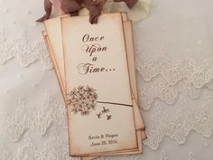 Fairytale Favors Wedding Bookmarks Dandelion Once Upon a Time Set of 10 by OnTheWingsPaperie on Etsy https://www.etsy.com/listing/246917949/fairytale-favors-wedding-bookmarks