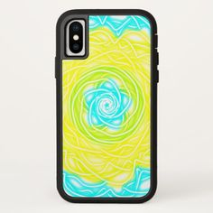 Electric Neon Rose iPhone X Case - white gifts elegant diy gift ideas