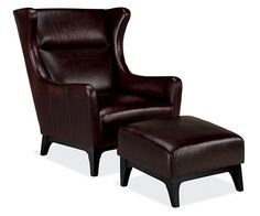 Marcel Leather Chair & Ottoman - Chairs - Living - Room & Board
