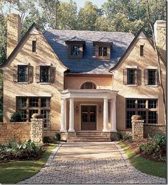 Another Yellow Brick House Yellow Brick Houses Beautiful Homes Beautiful Images Interior Exterior