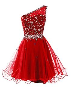 Dresstells® Women's One Shoulder Prom Dresses Homecoming Dress with Beads Red Size 4 Dresstells http://www.amazon.com/dp/B00MHPC8SI/ref=cm_sw_r_pi_dp_1JKrwb1D8CS9P