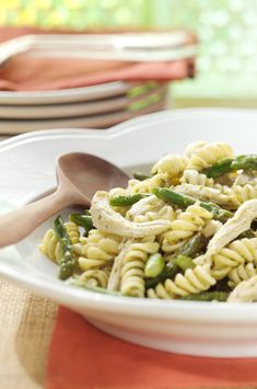 A delicious light and fresh pesto pasta dish. Tasty served hot for dinner or chilled as a pasta salad!