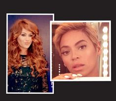 """#redhair #pixiecut #champagneblond #blond #beyonce #paulinarubio #hair #hairstyles    Queen Bee and """"Chica Dorada"""" Embrace Change   Yours Truly, E"""