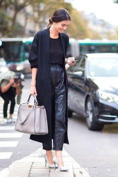 Comment porter le pantalon en cuir : nos inspirations pour savoir comment porter le pantalon en cuir  - Elle