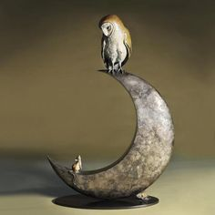 dotifications: risemydarkknight: Owl Sculpture by Theodore Gillick on We Heart It - http://weheartit.com/entry/50247870/via/mongrelstarz TumbleOn)