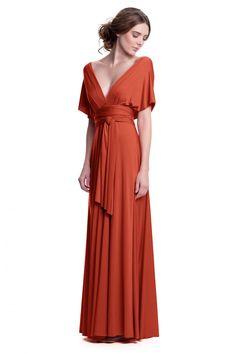 Sakura Burnt Orange Maxi Convertible Dress