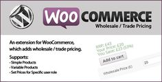 Review WooCommerce Wholesale Priceslowest price for you. In addition you can compare price with another store and read helpful reviews. Buy