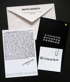 Maison Martin Margiela' Fashion Show Invites 1992 93