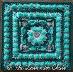 Lotus Flower Mandala Crochet Square Pattern