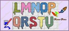 Paint or Painted Alphabet L-U