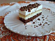 Tvarohový Rudolf (fotorecept) Hungarian Recipes, Hungarian Food, Pavlova, Creative Food, Vanilla Cake, Nutella, Tiramisu, Sweet Treats, Deserts