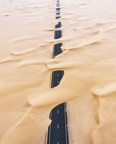 The Best 50 Drone Photos of the Year -sand across road, Dubai Photography Beach, Aerial Photography, Landscape Photography, Nature Photography, Travel Photography, Photography Series, Muse Drones, Fotografia Drone, Photos Voyages