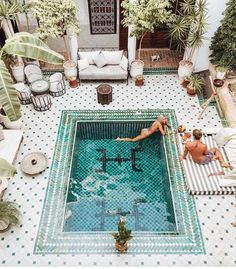 Outdoor Living | outdoor pool | Moroccan style