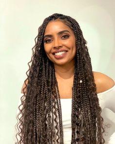 Goddess Box braids: a new way to wear braids? - Goddess Box braids: a new way to wear braids? – My Afro Hairdresser - Big Cornrows, Afro Braids, Braids With Curls, Braids For Short Hair, Nigerian Braids, Cornrows Braids For Black Women, Braids With Shaved Sides, Fulani Braids, Dutch Braids