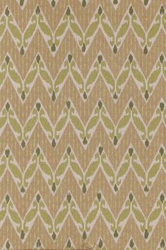 Zig Zag Ikat - Moss textile from Lacefield Designs www.lacefielddesigns.com