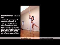 Vid #29: Aerial (Air) Invert on Static and Spinning Pole Tutorial by Dirdy Birdy. best tips ever for inverts