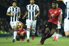 best cheap f3092 5f43d Manchester Uniteds French midfielder Paul Pogba has an unsuccessful shot  during the English Premier League football