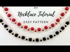DIY necklace. Elegant jewelry making tutorial. Two beaded necklaces one beading pattern - YouTube